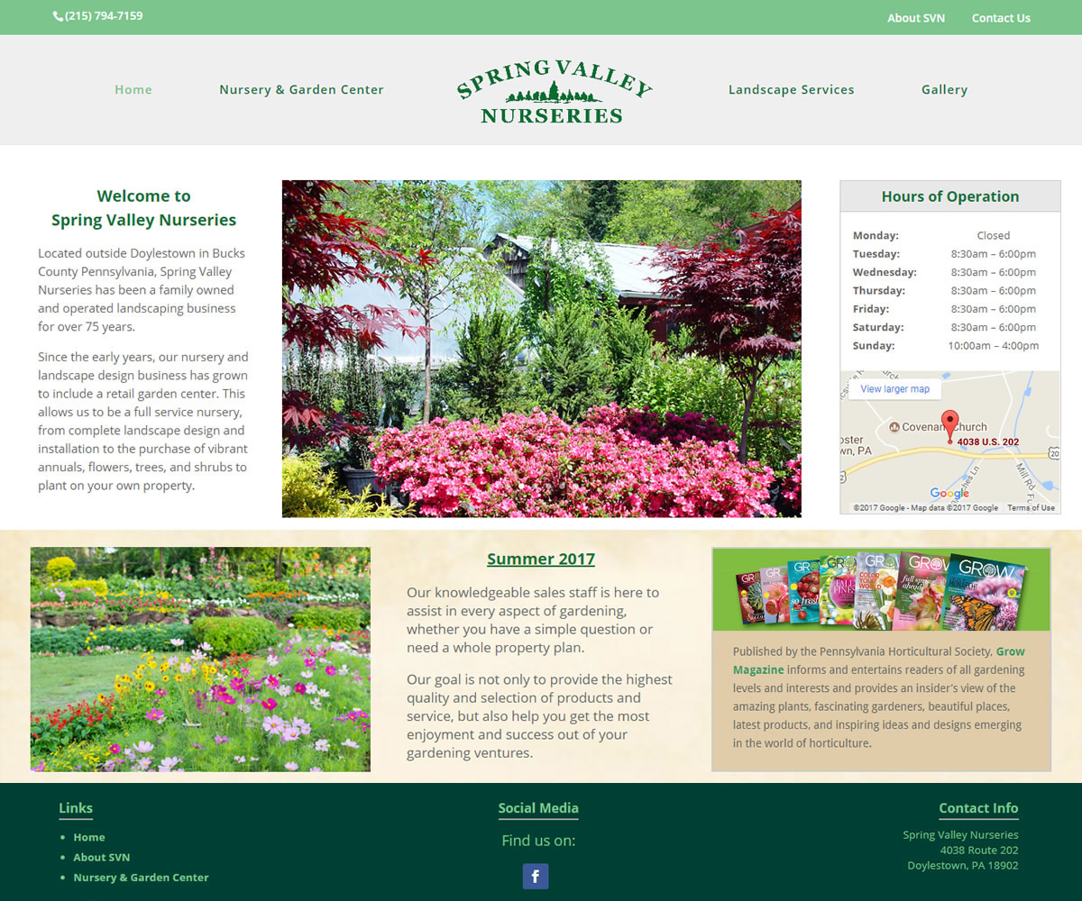 Spring Valley Nurseries Website