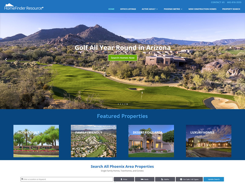 HomeFinder Resource website