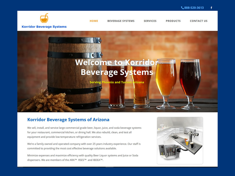 Korridor Beverage website